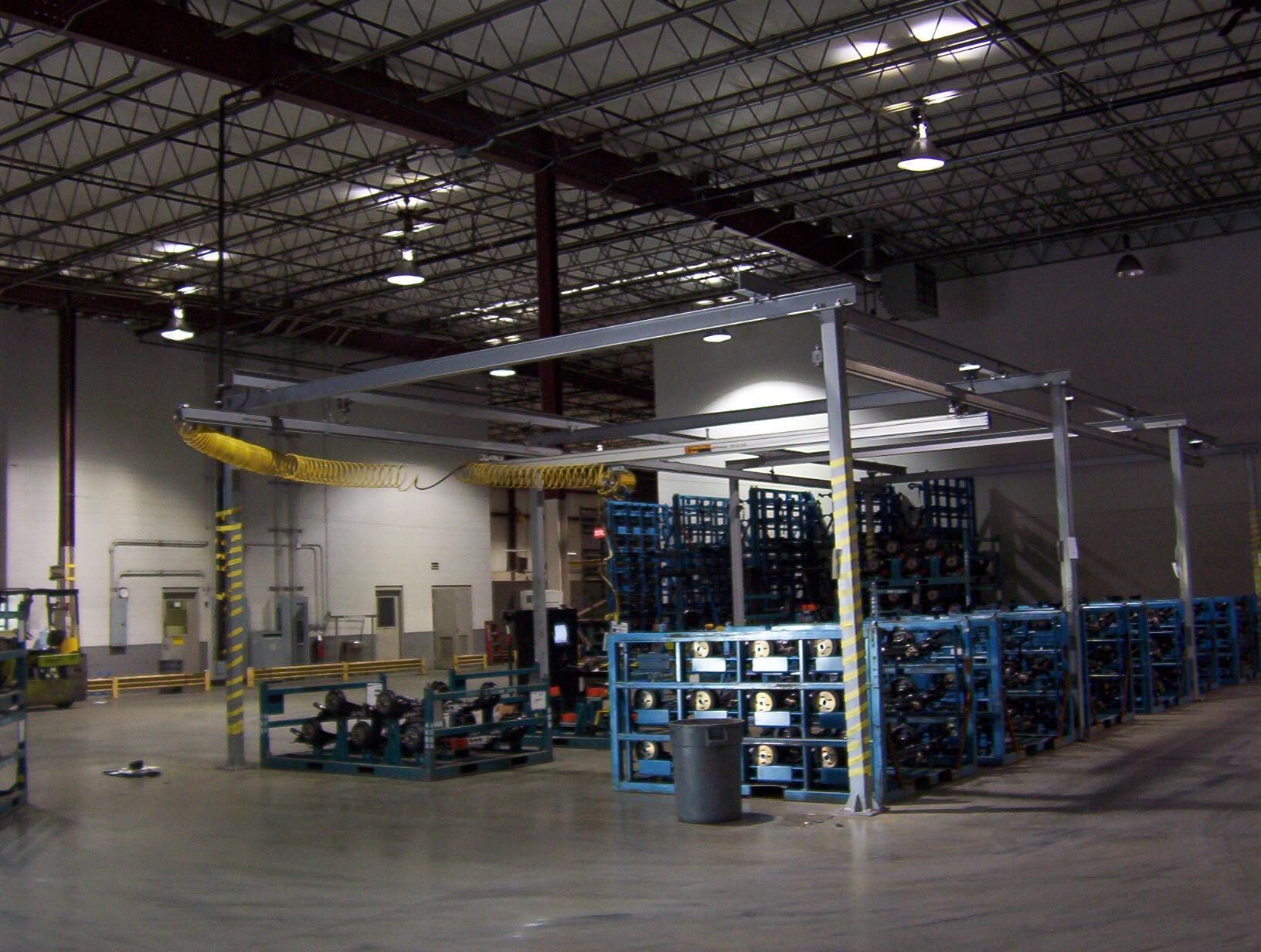 Workstation Crane Systems : Ergonomic workstation crane systems ohio tool