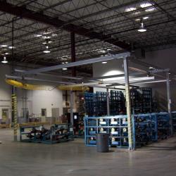 I R Floor Supported Enclosed Track Ergonomic Crane System