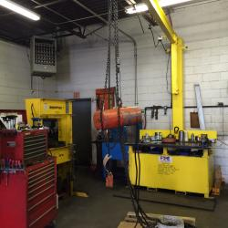 CM Electric Chain Hoist being repaired in our West Virginia branch.