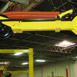 mobile lift assist - Low profile arm for reaching into racks.