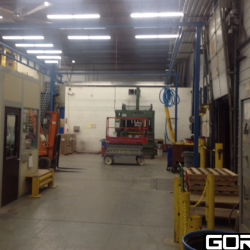 Gorbel Crane installed in area shown in concept, 20 x 30 four column system