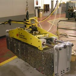 Lift assist for scrap aluminum block handling