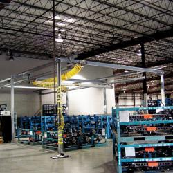 Ingersoll Rand Zimmerman Crane systems are all bolt up construction that makes additons easy.