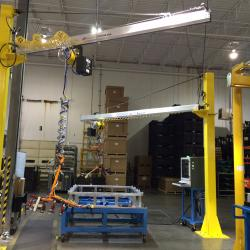 Ergonomic Jib Cranes with Lift Assist