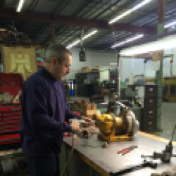 Bill repairs a small BU7a Ingersoll Rand winch.